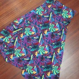 LuLaRoe Maxi Skirt Fun Print Size M